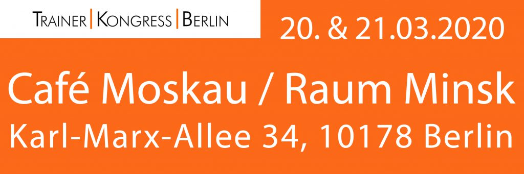 PITstop:; Trainer Kongress Berlin; 2020; Raum Minsk; Café Moskau